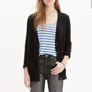 Madewell Graduate Cardigan Black Button V Neck L